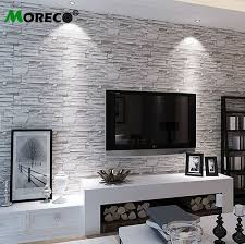 wallpaper for home office. Moreco-3d Brick\u0026stone Pattern Modern Style Wallpaper Home/office Decor For Living Room/ Home Office