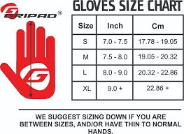 Gripad Gloves Size Chart Gripads