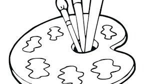 Paint Coloring Pages Paint Brush Coloring Page Painting Coloring