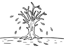 Small Picture Leafless Tree in Autumn Leaf Coloring Page NetArt