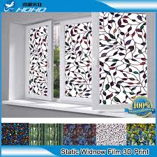 flower static cling window stained glass frosted decor privacy protector
