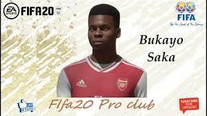 FIFA 20 Bukayo Saka Look alike in Arsenal // Fifa20 Pro club - YouTube