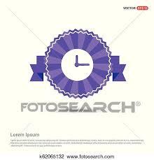 Purple Ribbon Banner Clock Icon Purple Ribbon Banner Clipart