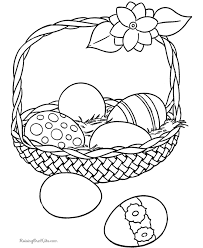 Free Easter Basket Coloring Page Printables For Children