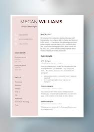 Modern Looking Resume Template Modern Cv Template Resume Template With Cover Letter References High Level Resume Unique Resume Word Resume Minimalist Resume