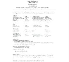 Child Actor Resume Sample Talent Resume Template Actor Resume ...
