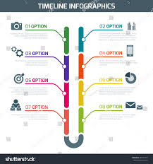 Resume Infographic Template Timeline Infographic Vector Cv Resume Business Stock Vector 77
