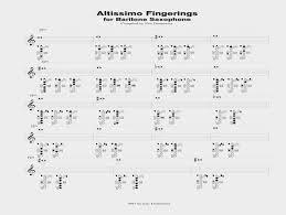 Baritone Altissimo Fingering Chart Modern Bari Bass