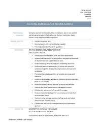 Staffing Coordinator Resume Letter Example