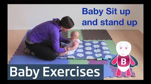 baby playtime exercises 3 6 months sit up stand up baby activities baby development