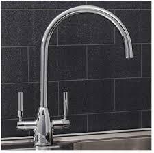 modern twin lever kitchen taps
