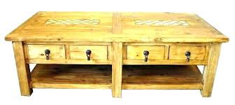 coffee table tables rustic pine trunk large round