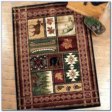 cabin area rugs log rustic craft rug designs lodge style