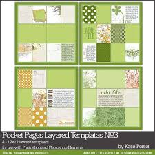 Pocket Pages Layered Templates No 03 Katie Pertiet Pse Ps