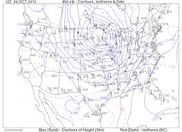 500 Mb Contours Isotherms Data