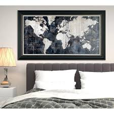 world map framed old world map blue framed graphic art on wrapped canvas large framed world map uk