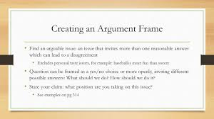 writing a classical argument ppt video online creating an argument frame