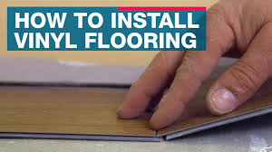 How To Lay Vinyl Tiles In Bathroom How To Install Vinyl Plank Flooring Youtube