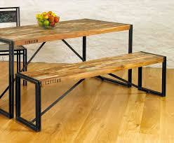 urban industrial furniture. Urban Industrial Dining Table With Bench Chic Salvage Furniture Range Vintage Rhpinterestcom Image For