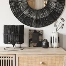 Zwarte Lamp Van Metaal En Papier Maisons Du Monde