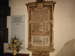 Brookfield Church's Interior Plaques and Memorials