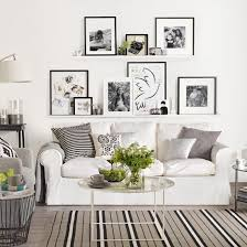 black white living room furniture. White Living Room With A Gallery Wall Black Furniture E