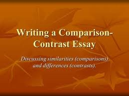 essay outline poetry unit ppt video online  writing a comparison contrast essay discussing similarities comparisons and differences contrasts
