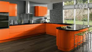Orange And White Kitchen White Orange Modern Kitchen