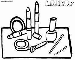 Small Picture Makeup Coloring Pages Online MakeupinkCo