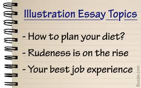 interesting and fun illustration essay topic ideas