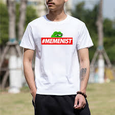 2018 Summer men tshirt t shirt Tee <b>Frog Pepe Printing</b> Graphic ...