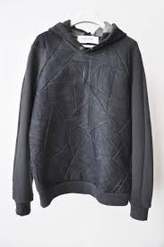 style 2: denim patchwork hooded <b>sweat</b>, only available at OPENING ...