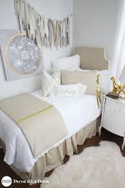 metallic gold speck designer dorm bedding set