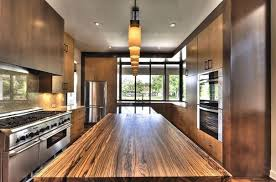 the exotic zebra wood kitchen countertop is a design piece no question don t the gorgeous wood grains carry your eye right down the length of the