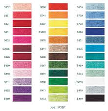 Dmc Satin Color Chart List Of Colors Color Threads Dmc