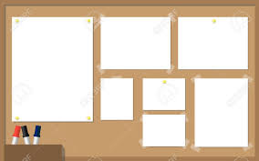 office cork boards. Office Cork Board. Board With White Paper, Yellow Pins, Pens And Boards