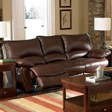 Shop Coaster Fine Furniture Clifford Dark Brown Leather Sofa at