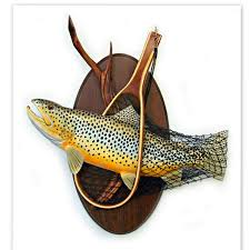 brown trout art sculpture wood carving wall art fishing inspiration of ceramic fish wall art on wood carved fish wall art with brown trout art sculpture wood carving wall art fishing inspiration