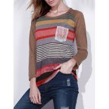 SHARE & Get it FREE | <b>Fashionable Colorful Scoop Neck</b> ...
