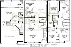 Story Townhouse Floor Plans Three Distinctive - Building Plans ...