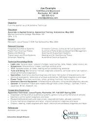 Automotive Mechanic Info Auto Mechanic Resume Sample For