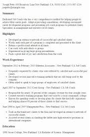 Job Coach Sample Resume