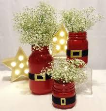 Decorated Christmas Jars Ideas Santa Suit Mason Jar Mason Jar Christmas Santa Suits And Santa 47