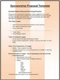 3 Sponsorship Proposal Templates Excel Word Templates