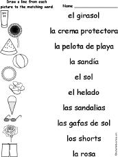 Summer Word List Summer K 3 Theme Page At Enchantedlearning Com