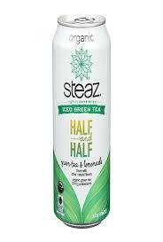 Steaz Lightly Sweetened Green Tea Steaz Lightly Sweetened Green Tea Half And Half Case Of