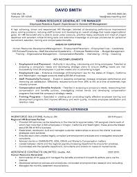 sample resumes com hr generalist
