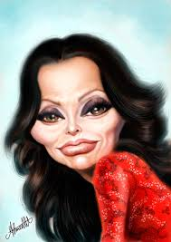 Sophia Loren s caricature on Behance Funny Pinterest Sophia.