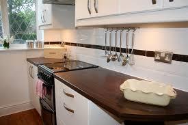 how tile bathrooms kitchens using metro subway tiles the wall white gloss kitchen again gl ceramic black