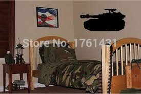 Awesome Big Tank Boys Army Military Bedroom Wallpaper Wall Art Decals Home  Decoration Living Room Decorative Wall